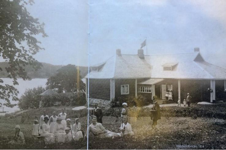 Villa Nordbacka vuonna 1916. Kuva: Huvilaelämää sata vuotta sitten